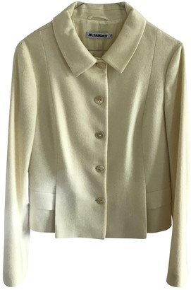 Jil Sander Yellow Cashmere Jacket for Women