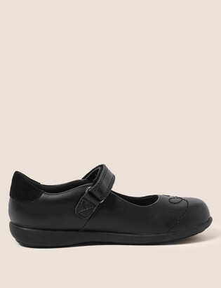 Marks and Spencer Kids Leather Flashing Light School Shoes (8 Small -1 Large)