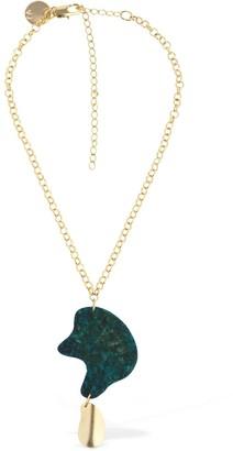 Vanda Jacintho Organic Shape Short Chain Necklace
