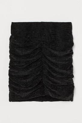 H&M Draped velour skirt