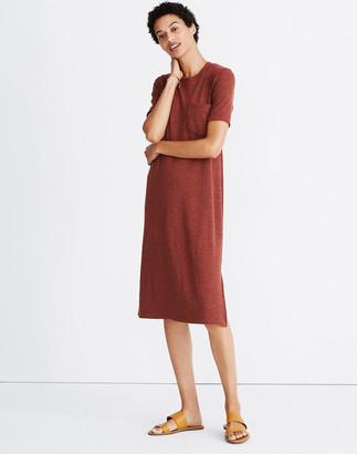 Madewell Ribbed Pocket Tee Midi Dress