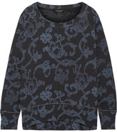Rag & Bone Max Oversized Printed French Cotton-terry Sweatshirt - Indigo