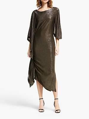 Modern Rarity Paula Knorr Long Ruffle Dress, Gold