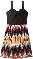 Ruby Rox Big Girls' Dress with Printed Skirt