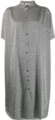 6397 Checked Shirt Dress