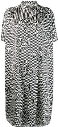 6397 Checked Shirt Dress