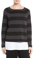 Eileen Fisher Crop Silk & Organic Cotton Top (Regular & Petite)