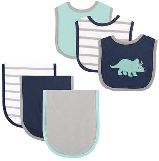 Hudson Baby Bibs and Burp Cloth, 6-Piece Set, One Size