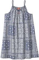 Joe Fresh Kid Girls' Denim Paisley Dress, Medium Wash (Size XL)