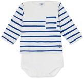 Petit Bateau Baby boys striped bodysuit