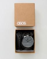 Asos Watch And Bracelet Set In Black