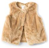 Chloé Kids Faux Fur Vest in Beige