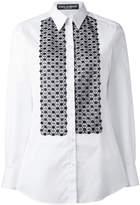 Dolce & Gabbana embroidered bib shirt
