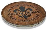 Mud Pie Bistro Collection Fleur de Lis Mango Wood & Tin Lazy Susan