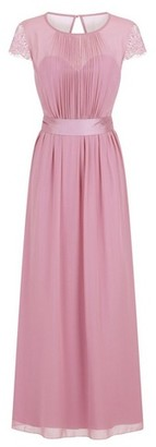 Dorothy Perkins Womens **Little Mistress Dusky Rose Lace Chiffon Maxi Dress, Dusky Rose