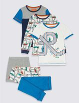 Marks and Spencer 3 Pack Mixed Pyjamas (9 Months - 8 Years)
