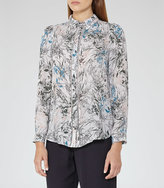 Reiss Petra Printed Silk Blouse