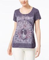 Style&Co. Style & Co Foiled Graphic T-Shirt, Created for Macy's
