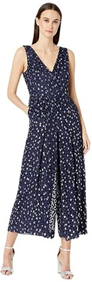 Kate Spade Scatter Dot Velvet Jumpsuit (Celestial Blue) Women's Jumpsuit & Rompers One Piece