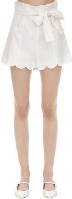 Zimmermann Scalloped Linen Shorts