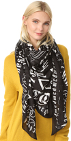McQ by Alexander McQueen Alexander McQueen Gothic Text Square Scarf