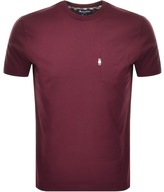 Aquascutum London Wilmslow Pocket T Shirt Burgundy