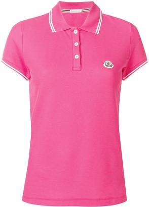 Moncler Stripe Trim Polo Shirt