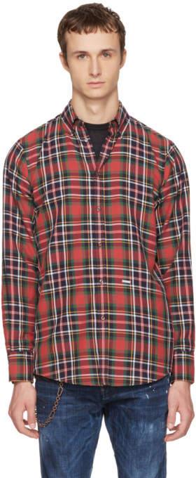 DSQUARED2 Multicolor Check Canada Hiking Shirt