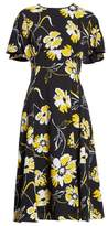 Michael Kors Floral Print Silk Flirt Dress