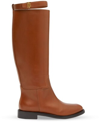Burberry Monogram Motif Knee-High Boots