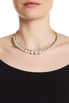Judith Jack Sterling Silver Marcaste & Glass Pearl Detail Collar Necklace