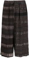 Baja East patterned knit culottes - women - Cotton - 1