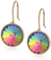 """Betsey Johnson You Give Me Butterflies"""" Vitrail Faceted Stone Drop Earring"""
