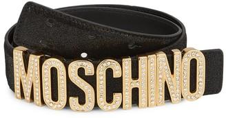 Moschino Embellished Logo Belt