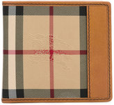 Burberry printed fold-out wallet - men - Cotton/Leather - One Size