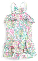 Kate Mack Girl's Ruffle Romper
