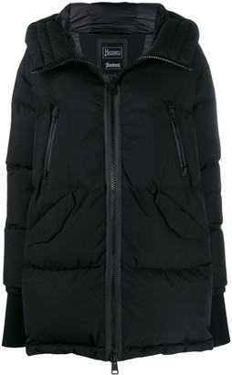 Herno mid-length hooded jacket