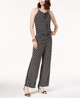 INC International Concepts Printed Peasant Jumpsuit, Created for Macy's