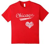 Chicago Flag Heart Shirt