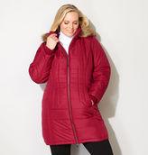 Avenue Faux Fur Trim Puffer Coat