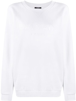Balmain Logo-Embroidered Raglan Sweatshirt