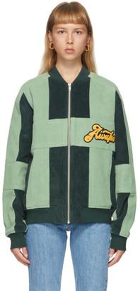 Awake NY Green Corduroy Logo Jacket