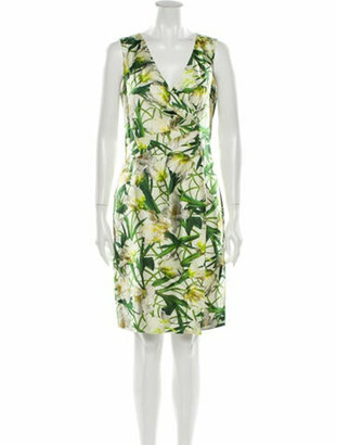 Oscar de la Renta 2013 Knee-Length Dress Green