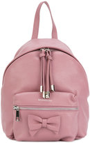MonnaLisa bow detail backpack - kids - Leather - One Size
