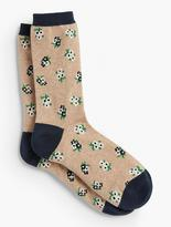 Talbots Bunches of Floral Trouser Sock