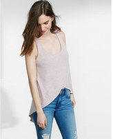 Express one eleven crossover hi-lo tunic tank