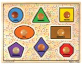 Melissa & Doug Kids Toy, Large Shapes Jumbo Knob Puzzle