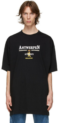 Vetements Black Oversized Antwerpen T-Shirt