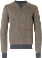 Z Zegna textured knitted jumper