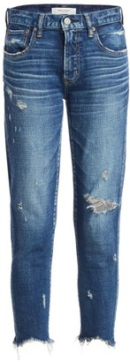 Moussy Glendale Mid-Rise Skinny Distressed Jeans